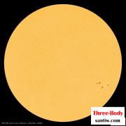 2020年10月29日的太阳表面画面(右下角黑点为太阳黑子)